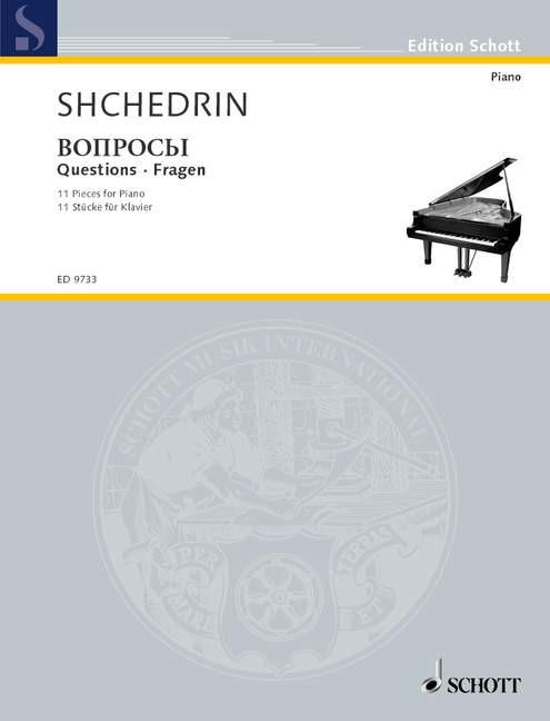 Creatief Questions 11 Pieces For Piano Shchedrin, Rodion Piano 9790001136549